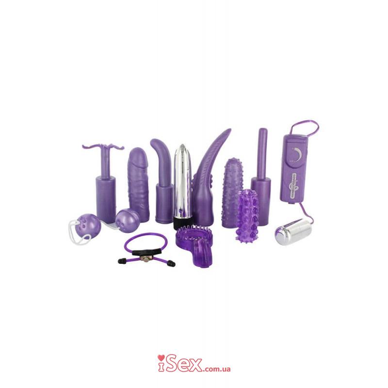Секс-набор Dirty dozen sex toy kit purple