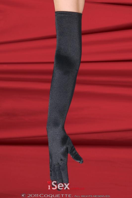 Длинные перчатки из атласа и спандекса