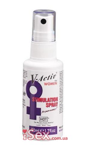 Возбуждающий спрей для женщин V-Active, 50 мл