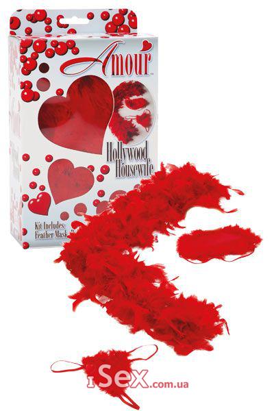 Набор (трусики, боа, маска) Amour Hollywood Housewife Kit