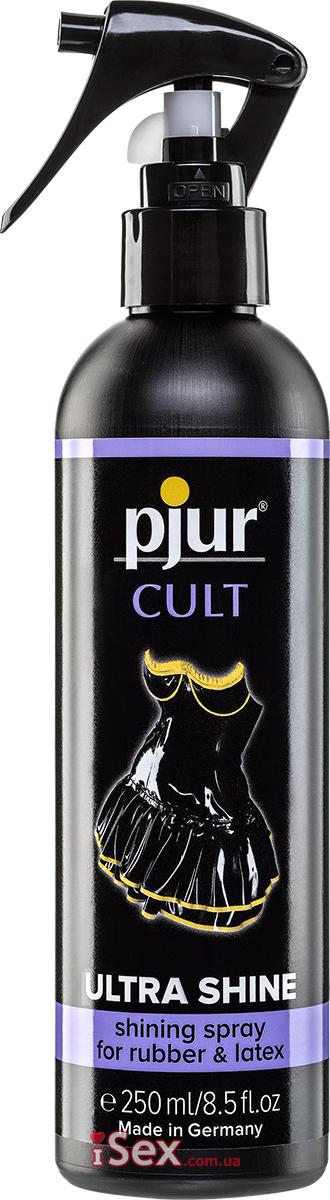 Спрей для одежды и обуви из резины и латекса Pjur Cult Ultra Shine, 250 мл