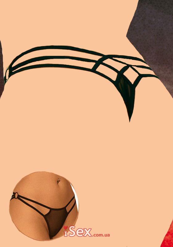 Трусики-стринги с красивым переплетением сзади