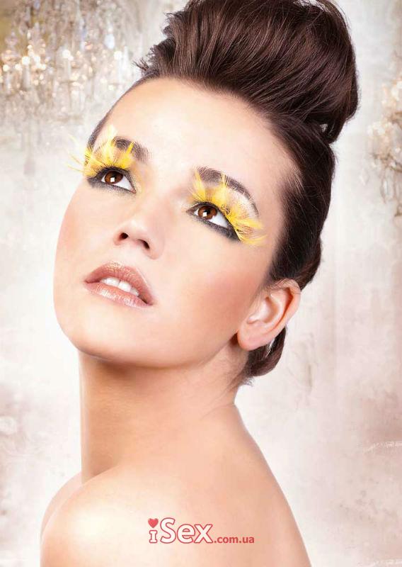 Накладные ресницы Yellow Feather Eyelashes
