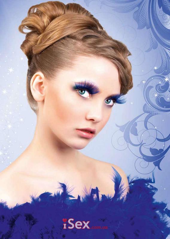 Накладные ресницы Blue Glitter Eyelashes