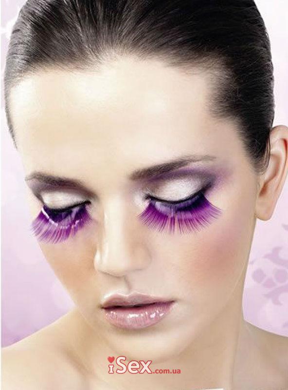 Накладные ресницы Purple Glitter Eyelashes