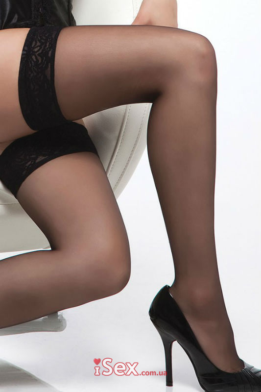 Чулки Sheer Thigh High Stockings With Lace Top