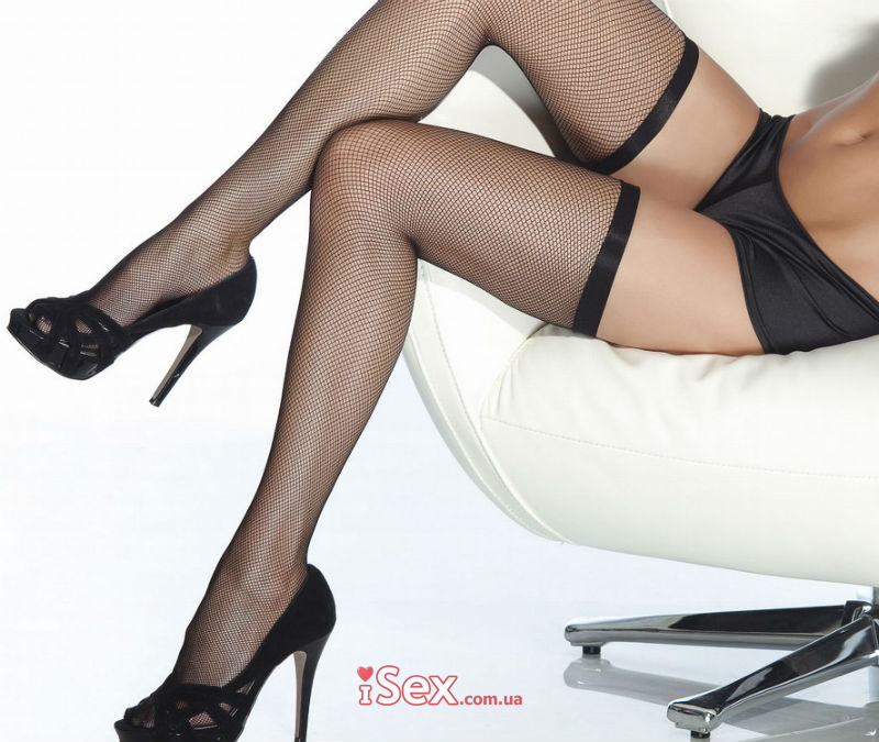 Чулки Fishnet Thigh High Stockings With Elastic Top
