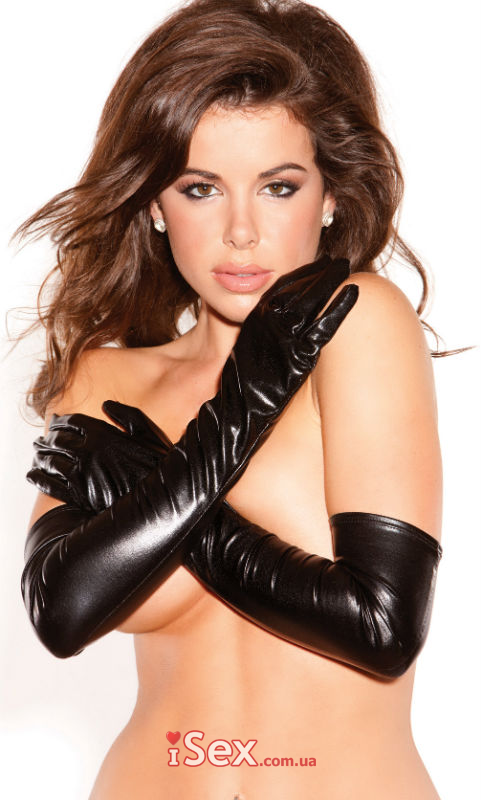 Перчатки Wet Look Long Gloves