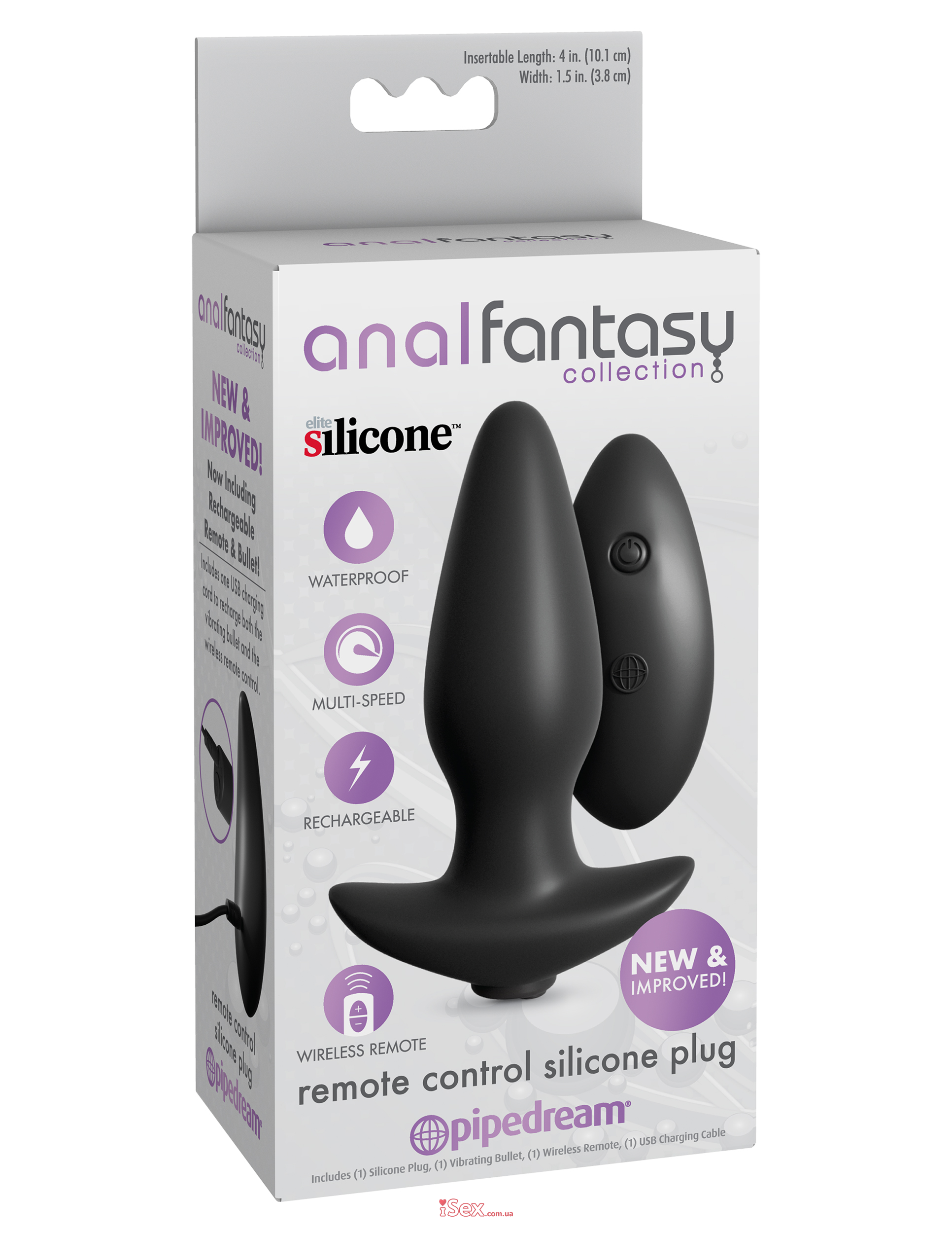 Анальная вибропробка Anal Fantasy Collection Remote Control Silicone Plug