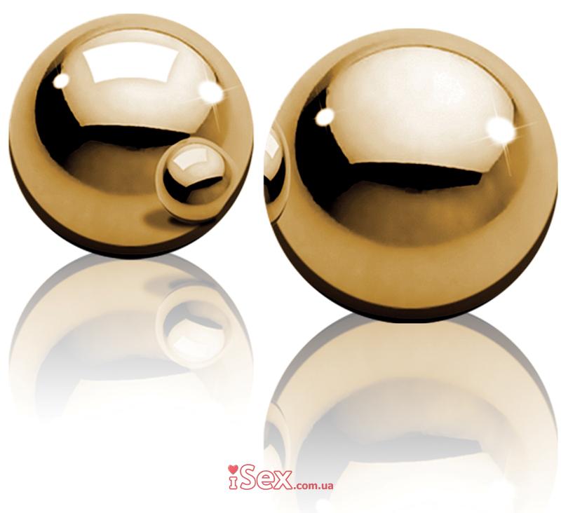 Металлические вагинальные шарики Fetish Fantasy Gold Ben-Wa Balls