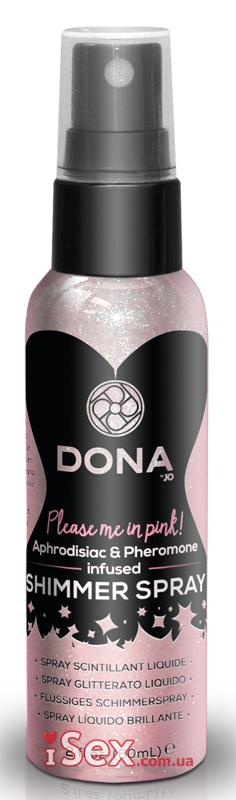 Ароматный спрей для тела с блестками System JO DONA Shimmer Spray