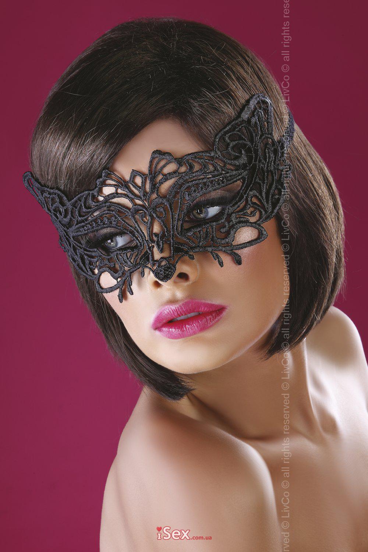 Шикарная кружевная маска