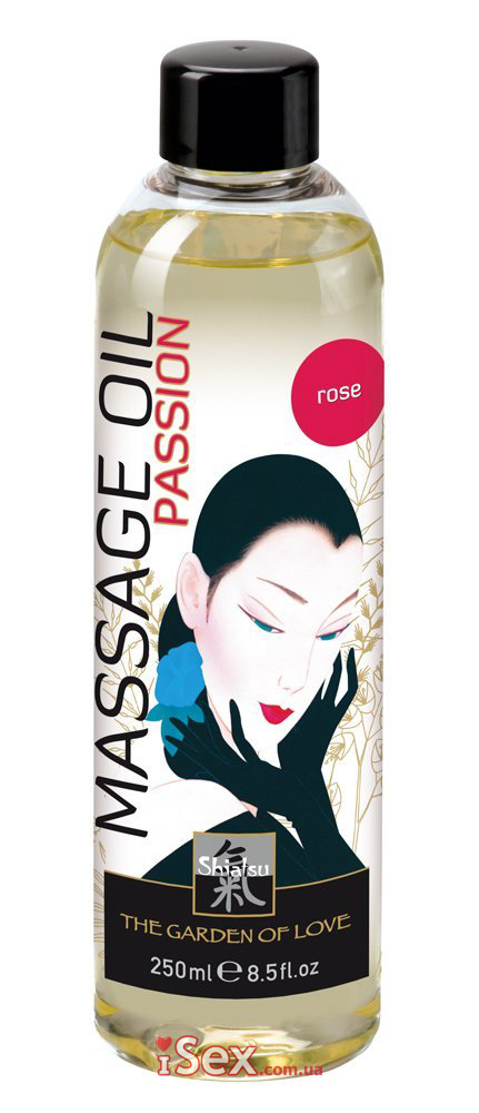 Масло с ароматом розы HOT Shiatsu Massage Oil Passion Rose, 250 мл