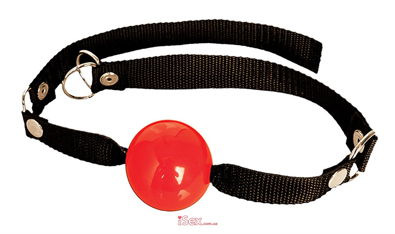 Кляп-шарик резиновый красный