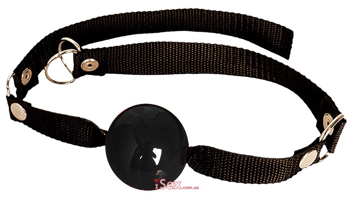 Кляп-шарик резиновый черный