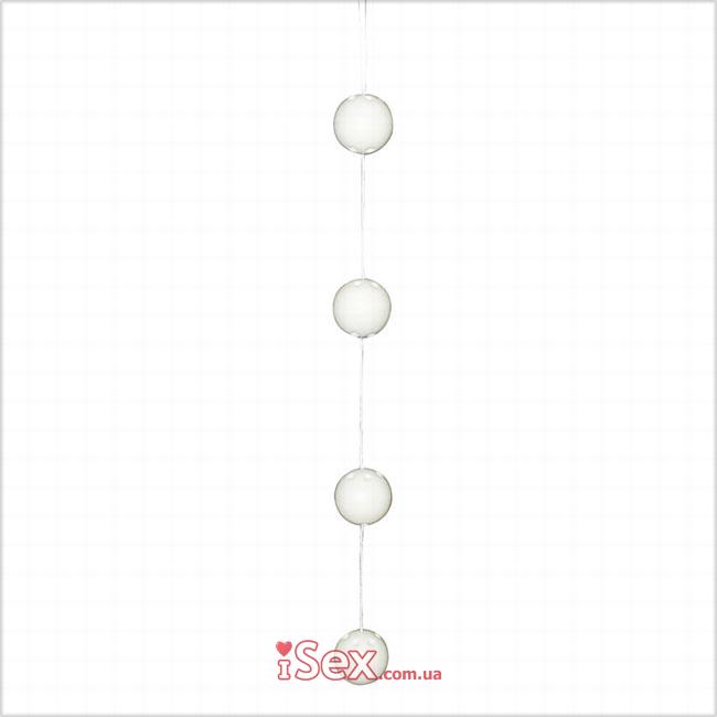 Вагинальные шарики белые Pleasure-Balls