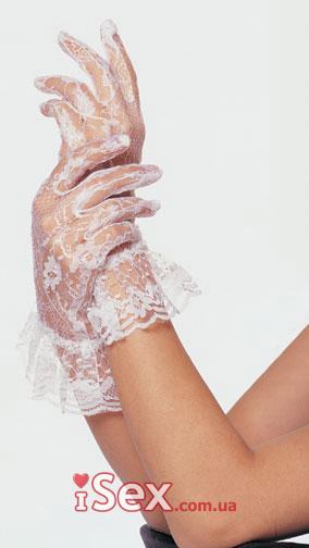 Перчатки Lace wrist lengh ruffle