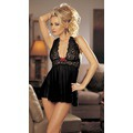 Сорочка (baby doll) + cтринги Stretch Mesh and Lace Babydoll with Bow