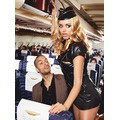 Костюм 4-piece Black Stewardess Costume